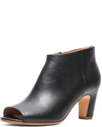 Maison Margiela Open Toe Leather Booties