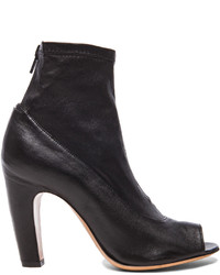 Maison Margiela Stretch Leather Open Toe Booties