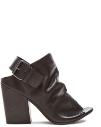 Marsèll Marsell Buckled Peep Toe Leather Booties