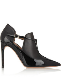 Valentino Matte And Patent Leather Ankle Boots