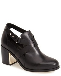 Topshop Mirror Crisscross Strap Leather Ankle Boot