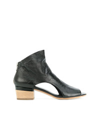 Officine Creative Open Toe Cut Out Sides Ankle Boots