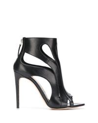 Alexander McQueen Open Toe Wave Boots