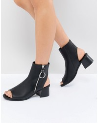 ASOS DESIGN Raven Zip Shoe Boots