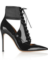 Gianvito Rossi Lace Up Patent Leather Ankle Boots