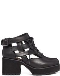 London milligan black cut out lace up boots medium 63490