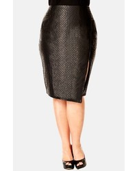 City chic quilted faux leather skirt medium 114083