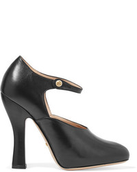 Gucci Leather Mary Jane Pumps Black