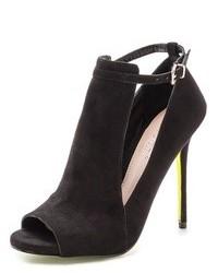 Black Cutout Suede Ankle Boots