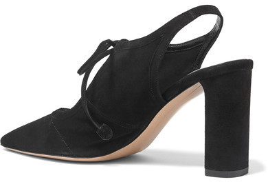 a900ac4570f The Row Camil Cutout Suede Pumps Black