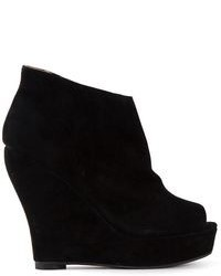 Open toe wedge ankle boots medium 87239