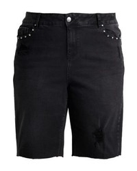 New Look Studded Knee Shorts Black