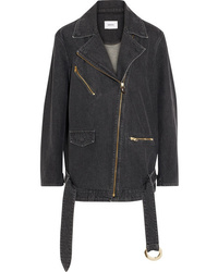 Nanushka Cite Oversized Denim Biker Jacket