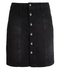 More & More Denim Skirt Black Denim