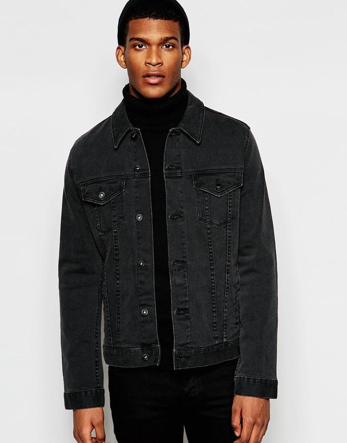 949bb4bb0b459 Asos Brand Denim Jacket In Slim Fit In Washed Black, £46 | Asos ...