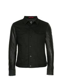 Loveless Contrast Sleeve Denim Jacket
