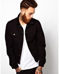 Lee Denim Jacket Slim Fit Rider Stay Black Stretch