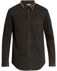 Givenchy Stud Embellished Denim Shirt Jacket