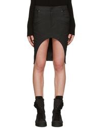 Black Denim Mini Skirt