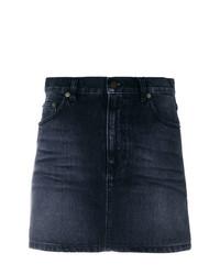 Saint Laurent Faded Denim Mini Skirt