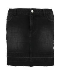 Even&Odd Mini Skirt Black Denim