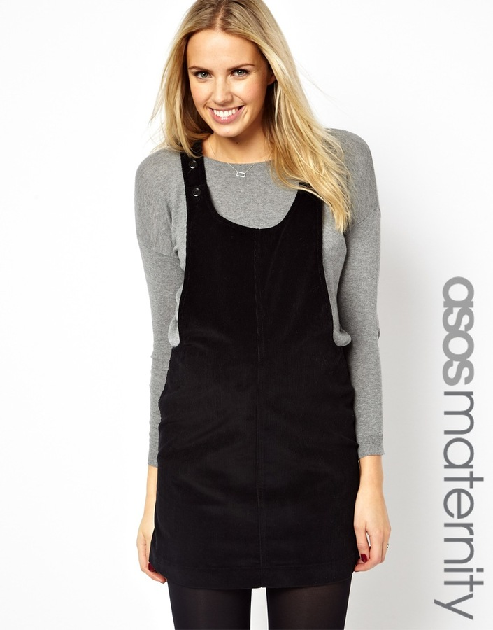 Asos Maternity Pinafore Dress In Cord Where To Buy How To Wear