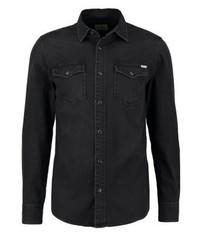 Jjvsheridan slim fit shirt black denim medium 3778015