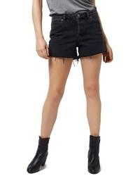 Topshop Ashley Black Denim Cutoff Shorts