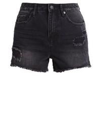 New Look Denim Shorts Black