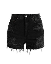 Topshop Denim Shorts Washedblack