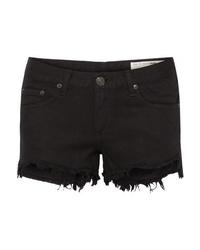 Rag & Bone Frayed Cut Off Denim Shorts