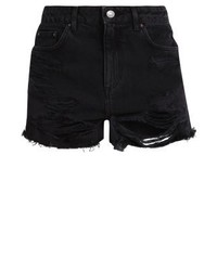 Topshop Mom Denim Shorts Washedblack