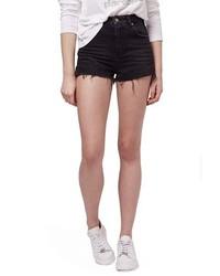 Topshop Raw Edge Denim Shorts