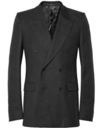 Alexander McQueen Slim Fit Wool Twill Double Breasted Blazer