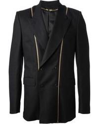 Alexander McQueen Zip Detail Blazer