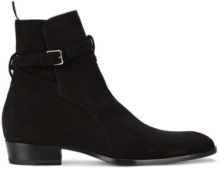 Suede Jodhpur Boots Saint Laurent r2Txmi7o