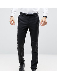 ASOS DESIGN Asos Tall Slim Tuxedo Trousers In Black