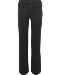 Prada Belted Tech Jersey Straight Leg Pants