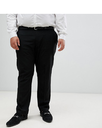 Burton Menswear Big Tall Skinny Suit Trousers In Black