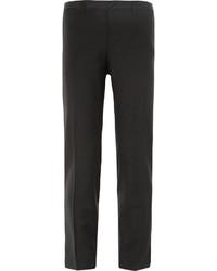 Dolce & Gabbana Black Slim Fit Wool Blend Tuxedo Trousers