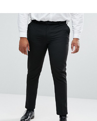 ASOS DESIGN Plus Skinny Suit Trousers In Black