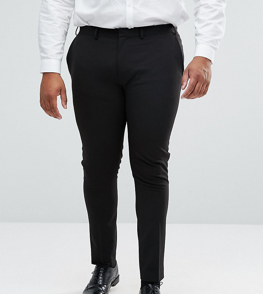 ASOS DESIGN Plus Super Skinny Fit Suit Trousers In Black