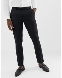 ASOS DESIGN Skinny Tuxedo Suit Trousers In Black