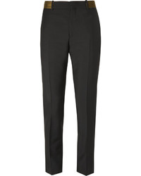 Alexander McQueen Slim Fit Wool And Mohair Blend Trousers