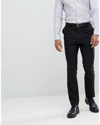 New Look Slim Smart Trousers In Black
