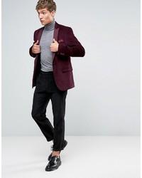 Asos Slim Suit Pants In Black Cord