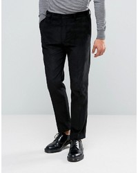 Asos Slim Suit Pants In Black Cord