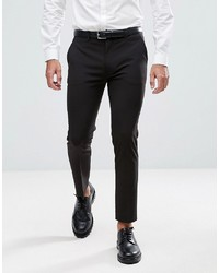 ASOS DESIGN Super Skinny Cropped Smart Trousers In Black