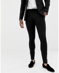 ASOS DESIGN Super Skinny Tuxedo Suit Trousers In Black