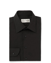 Salle Privée Black Cotton And Silk Blend Shirt